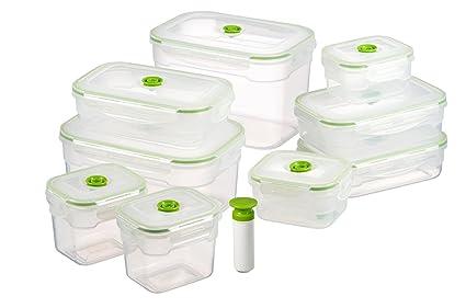 Amazon Com Lasting Freshness 19 Pc Rectangular Vacuum Seal Food
