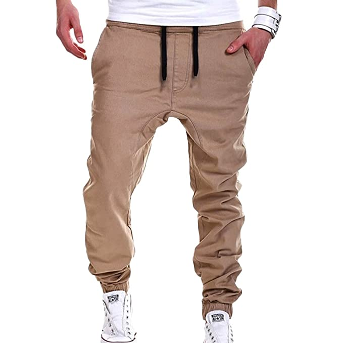 959ff18a59a3 XZmy Men's Harem Pants Casual Hip-Hop Sweatpants Drop Crotch Drawstring Baggy  Pants Jogging Trousers