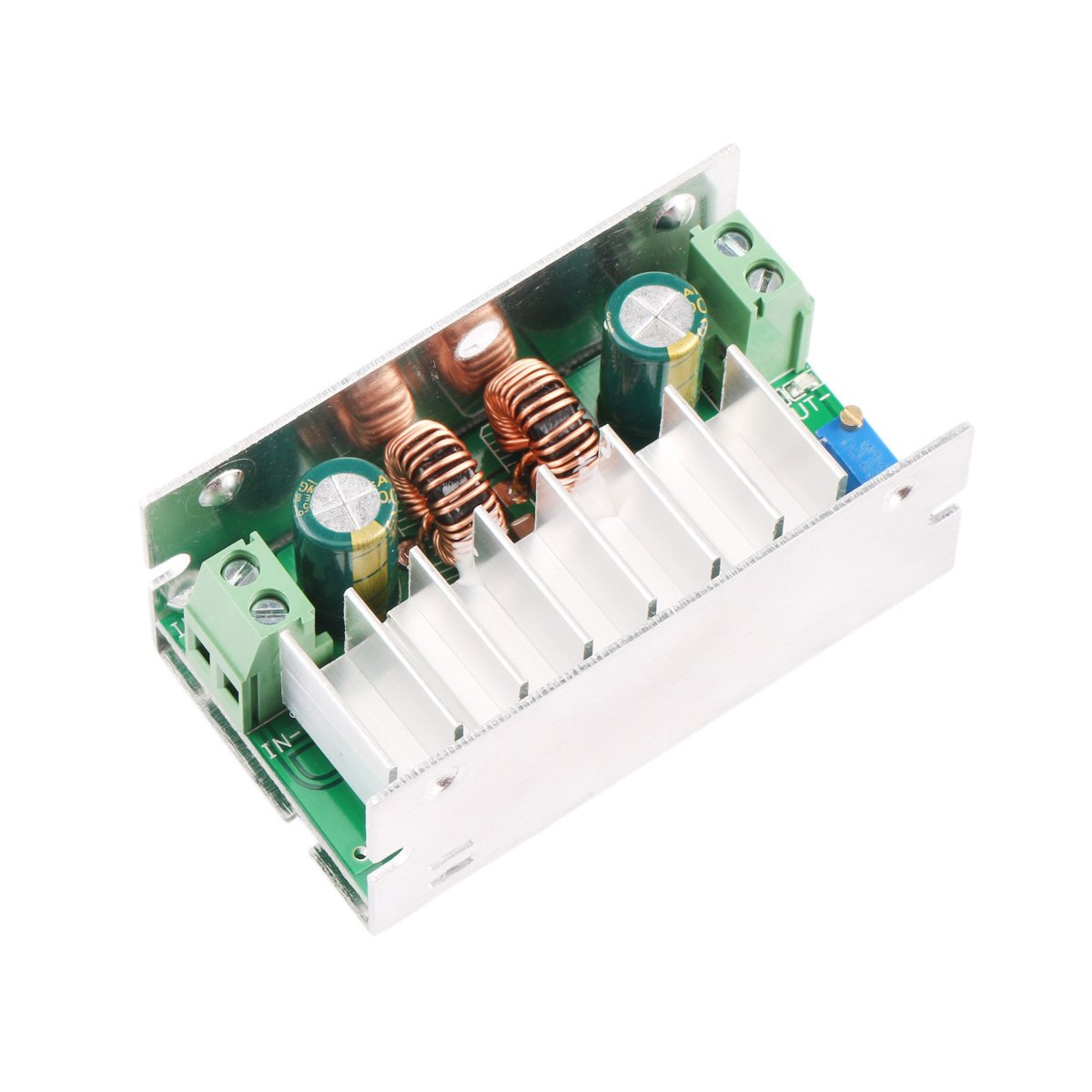 Drok Dc Automatic Buck Boost Converter 6v 35v 1 5a Step Down 3a Adjustable Regulator Using Lm350 Electronic Circuits And Up Output Volt 5v 12v Power Supply For Car Auto Vehicle Motor Regulated Sr Industrial Scientific