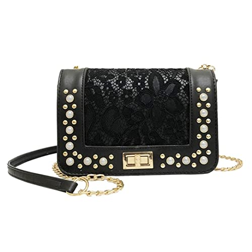Longra Damen Handtasche Damen Umhängetasche Citytasche Perle