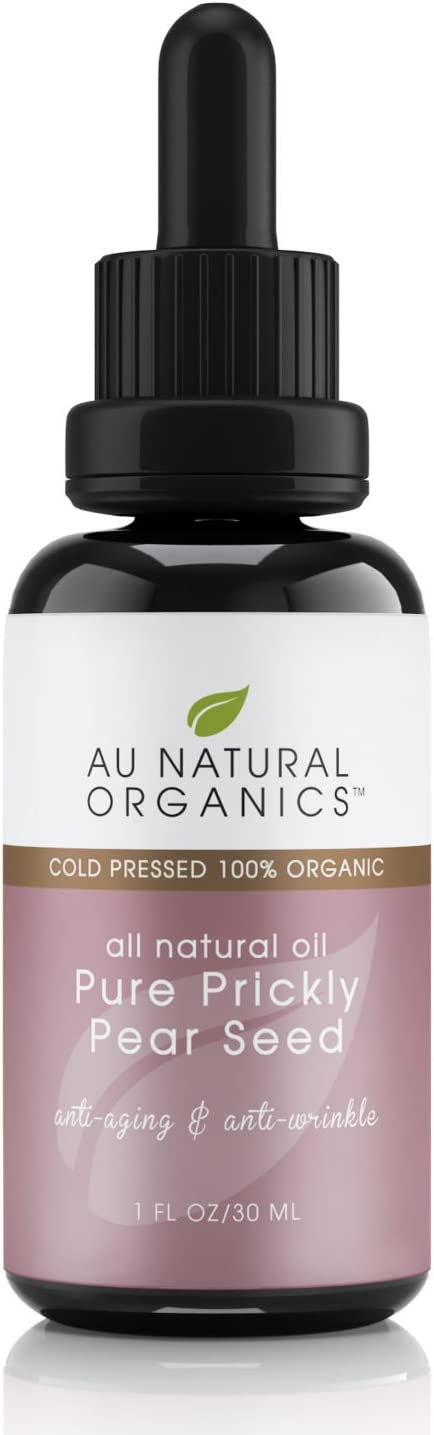 AuNatural Prickly Pear Seed Oil - Natural Organic Cactus Syrup - Essential for Face Body & Hair (1 oz./30ml)
