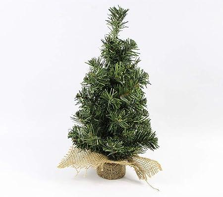 Mini Árbol De Navidad con Arpillera Base Mesa Bonsai Paisaje Decoración Navidad Ornamento para Casa Pino Árbol De Escritorio 30Cm: Amazon.es: Hogar