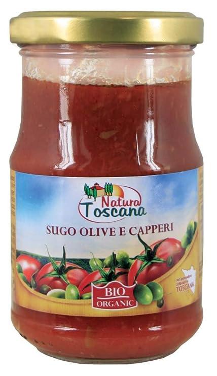 Naturaleza Toscana aceitunas y alcaparras salsa de 180g Orgánica