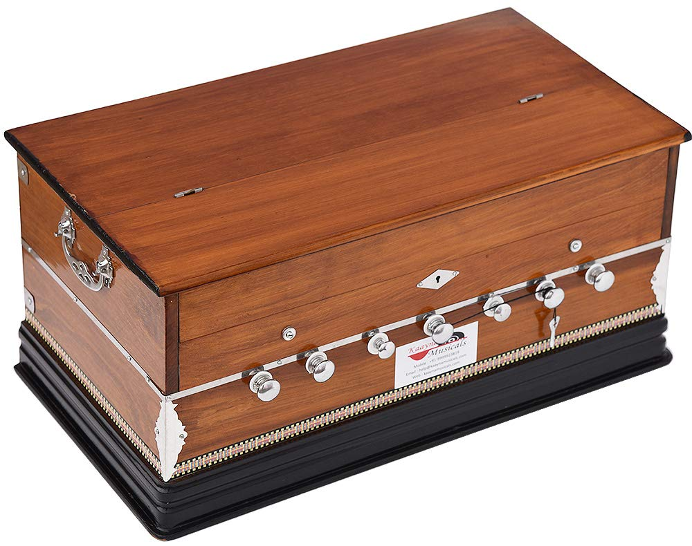 Harmonium Eco Model By Kaayna Musicals, Brown Colour, 7 Stops- 2 Drone, 3¼ Octaves, Gig Bag, Bass/Male Reed Tuned- 440 Hz, Best for Peace, Yoga, Bhajan, Kirtan, Shruti, Mantra, etc by Kaayna Musicals (Image #5)
