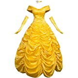 ad4375cecc CosFantasy Princess Belle Cosplay Costume Ball Gown Fancy Dress mp002019
