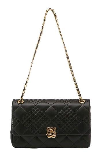 2d5ea74404a Women's Cow Leather Quilted Style Shoulder Handbag Black