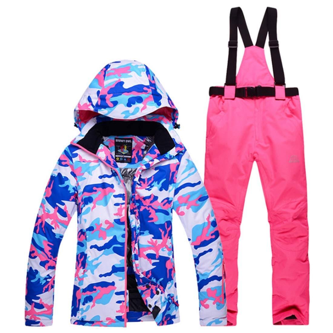 CAFUTY 女性のマウンテンスキージャケット防水防風暖かい冬のレインコート  Small