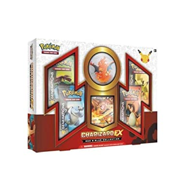Pokemon Charizard EX RED & BLUE Generations Booster Box Set - 4 packs and More: Sports & Outdoors