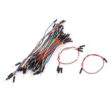 sourcingmap® Tablero de circuitos Flexible Cable puente Macho a macho 65pcs sin soldadura: Amazon.es: Bricolaje y herramientas