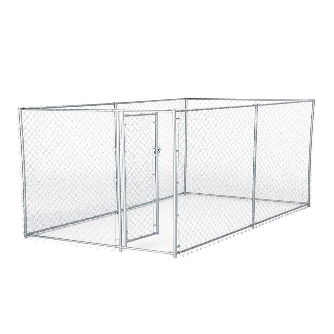 Lucky Dog Galvanized Chain Link Kennel (10' x 5' x '4) by Lucky Dog