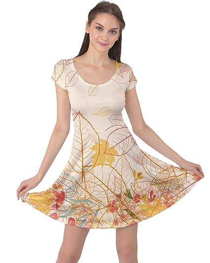 5a3e433c1c426 CowCow Women s Plus Size Casual Dresses Brown Pattern Fallen Autumn ...