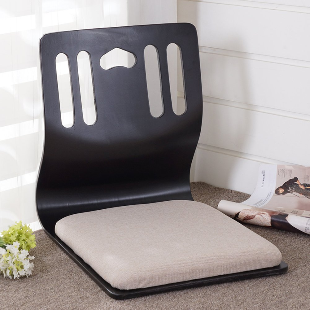 QIQ Tatami Room Chair,Bed Dormitory Back Chair Japanese Legless Chair Bay Window backrest Chair Lazy Chair Cushion-T by QIQ