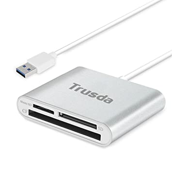 Lector Tarjeta de Memoria SD/Micro SD/CF, Ultra-rápido USB 3.0 Lector Multitarjetas para iMac, MacBook Air, Macbook Pro, Mac Mini, Computadoras de ...