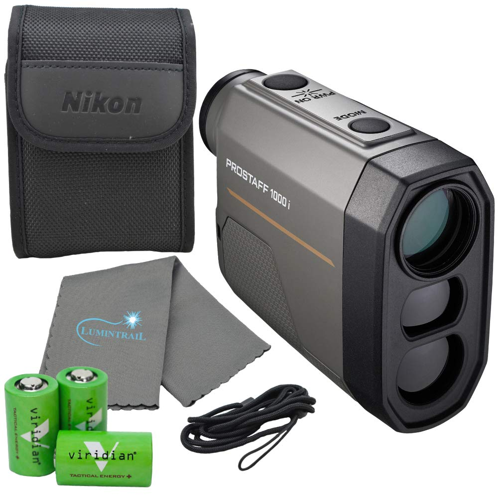 Nikon Prostaff 1000i Laser Rangefinder - 16663 Bundle with 3 CR2 Batteries and a Lumintrail Cleaning Cloth by Nikon