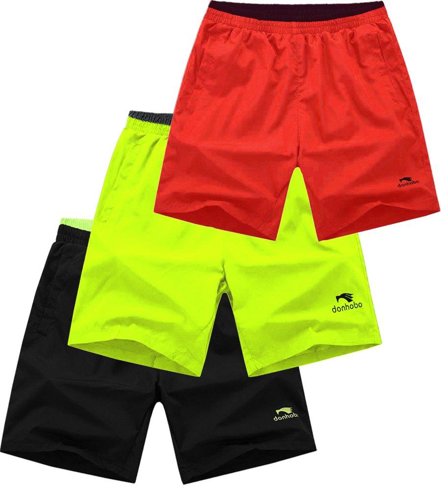 Mens GYM Bodybuilding Workout Sport Shorts 3pack 3 m