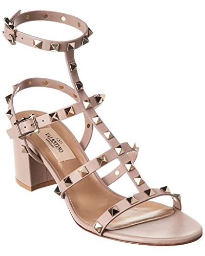 f85fc49ef431 Image Unavailable. Image not available for. Color  VALENTINO Rockstud Cage 60  Leather Sandal ...