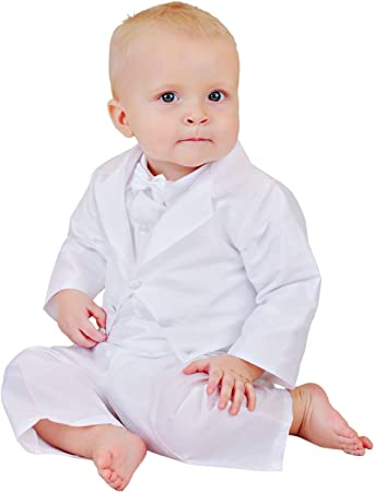 One Small Child Payton Suspender Christening Outfit