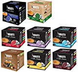Bialetti: Aluminium 124 Coffee Capsules Assorted with New Hazelnut Taste Pack of 8 for 16 capsules [ Italian Import ]