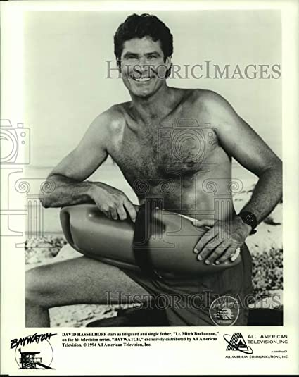 c13f9fc271 Amazon.com: Vintage Photos 1994 Press Photo David Hasselhoff Stars as a  Lifeguard in Baywatch Series: Photographs