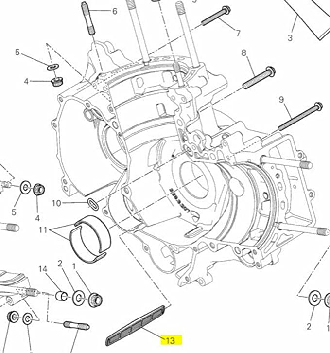 Amazon Com Ducati Oem Oil Net Crankcase Filter 42710171a All