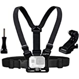 Sametop Chest Mount Harness Compatible with GoPro Hero (2018), Fusion, Hero 7, 6, 5, 4, Session, 3+, 3, 2, 1 Cameras