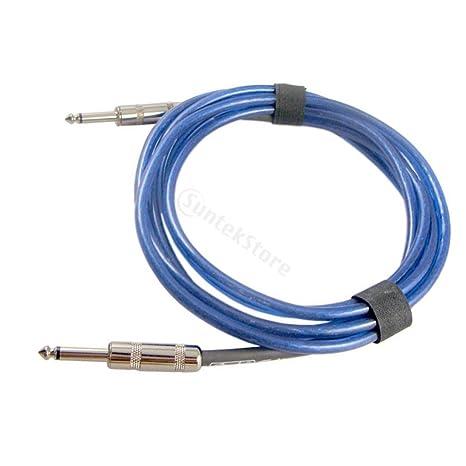 Sharplace Cable De Efector De Bajo Impacto De Guitarra De Bajo Consumo 6.35 mm Para Bajo