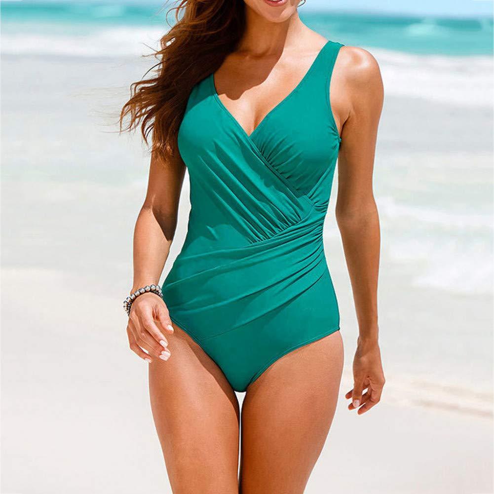 1f70d33aa5fcdd LMSHM Damen Bademode Einteilige Anzüge Push-Up Gepolsterter Badeanzug  Badeanzug Badeanzug Strand Bademode Bikini B07Q3PJ68T Bikini-Sets Große  Auswahl ...