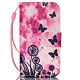 iPhone 6/6S Case, [Built-in Card Holders] Fashion Folding PU Leather Case Wallet Cover Unique Stand Folio Shell [Magnetic Closure] With Wrist Strap Skin For Apple iPhone 6/6S (4.7