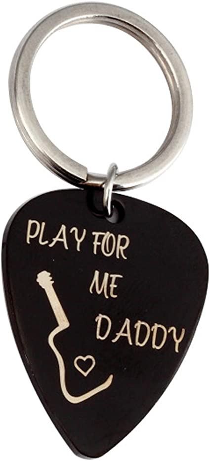 Llavero de acero inoxidable con púas de guitarra personalizadas ...