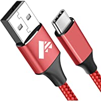 Cable USB Tipo C, Aioneus [2m/6.6ft]3A Cargador Tipo C Nylon Carga Rápida y Sincronización Cable USB C para Samsung S10…