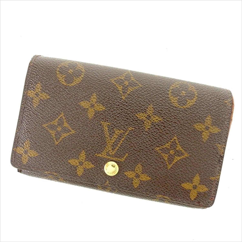 [ルイヴィトン] Louis Vuitton L字ファスナー財布 二つ折り財布 ポルトモネビエトレゾール M61730 モノグラム 中古 Y5722 B0772TSRWZ