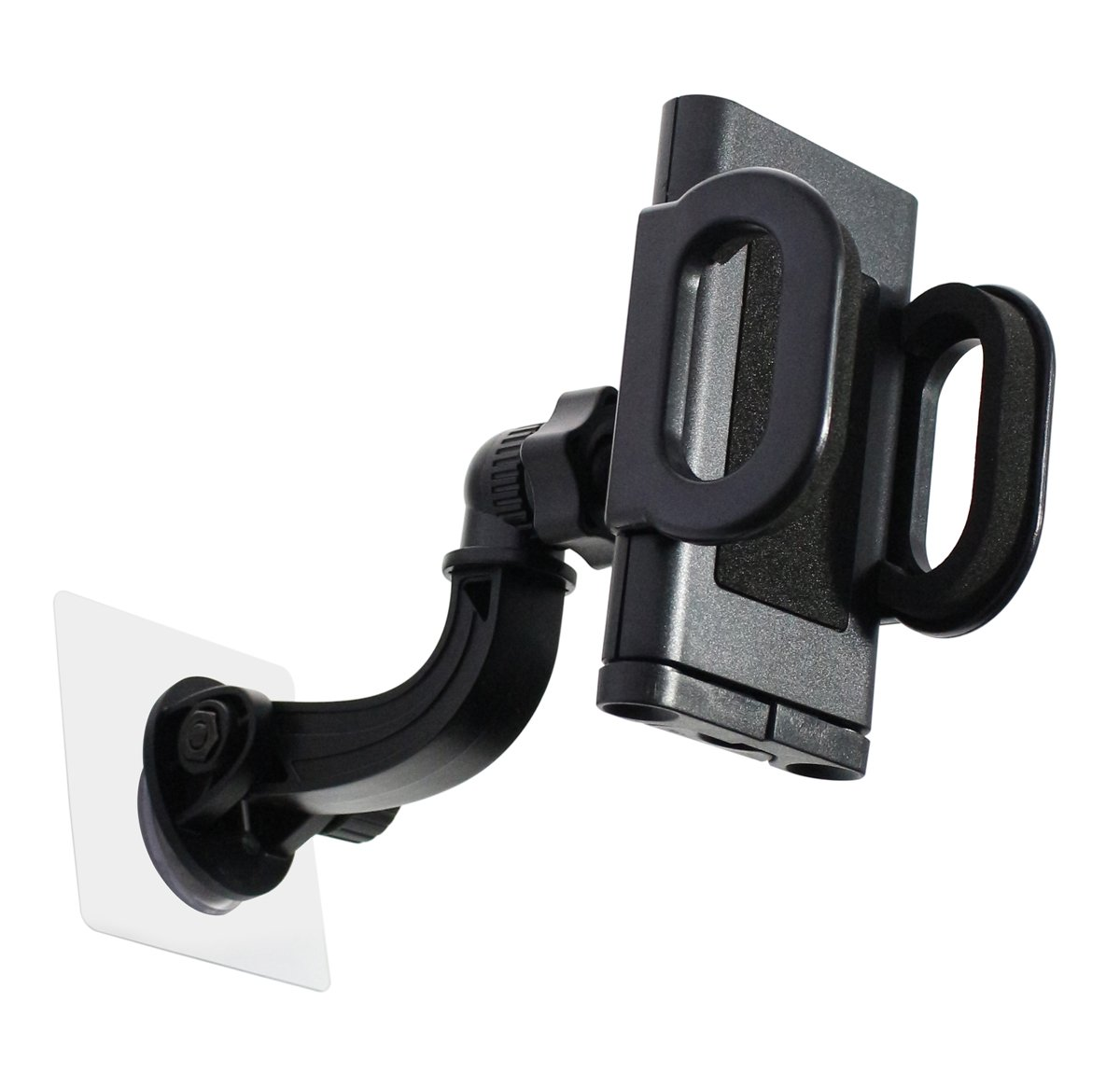 Traceless Adhesive Windshield Car Mount Cradle for Cell Phone and GPS 360 Degree View Adjusting