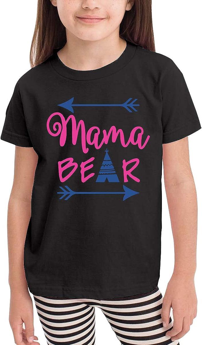 Short-Sleeve Mama Bear Shirts for Girls 2-6T Ruffled Tunic Shirt Dress