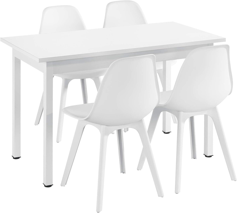 Dining Table 60 x 60 x 75 cm Design Kitchen Table White en.casa