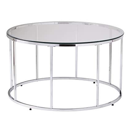 Round Coffee Table Silver 3
