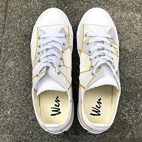 New Mano Shoes al Aire a para Pintados Summer Zapatos Zapatos con de Amantes adecuados Top Cordones Lona Deck Ocio de de Low Ladies Planos los de de Wild Zapatos Un Mujer Caminar Libre w6xnqtA