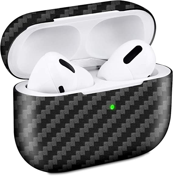 Amazon Com Airpods Pro 3 Case Genuine Carbon Fiber Slim Fit Super Thin Shockproof Aramid Fiber Cover And Skin Compatible With Apple Airpods Pro Earbuds Accessories