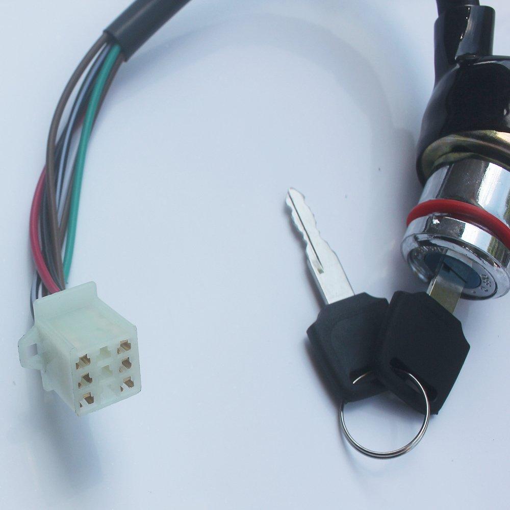 Kipa 6 Wires Key Ignition Switch For Kazuma Meerkat 50cc Falcon 90cc Eton Atv Wiring 110cc 125cc Redcat Quad Switches Automotive Tibs