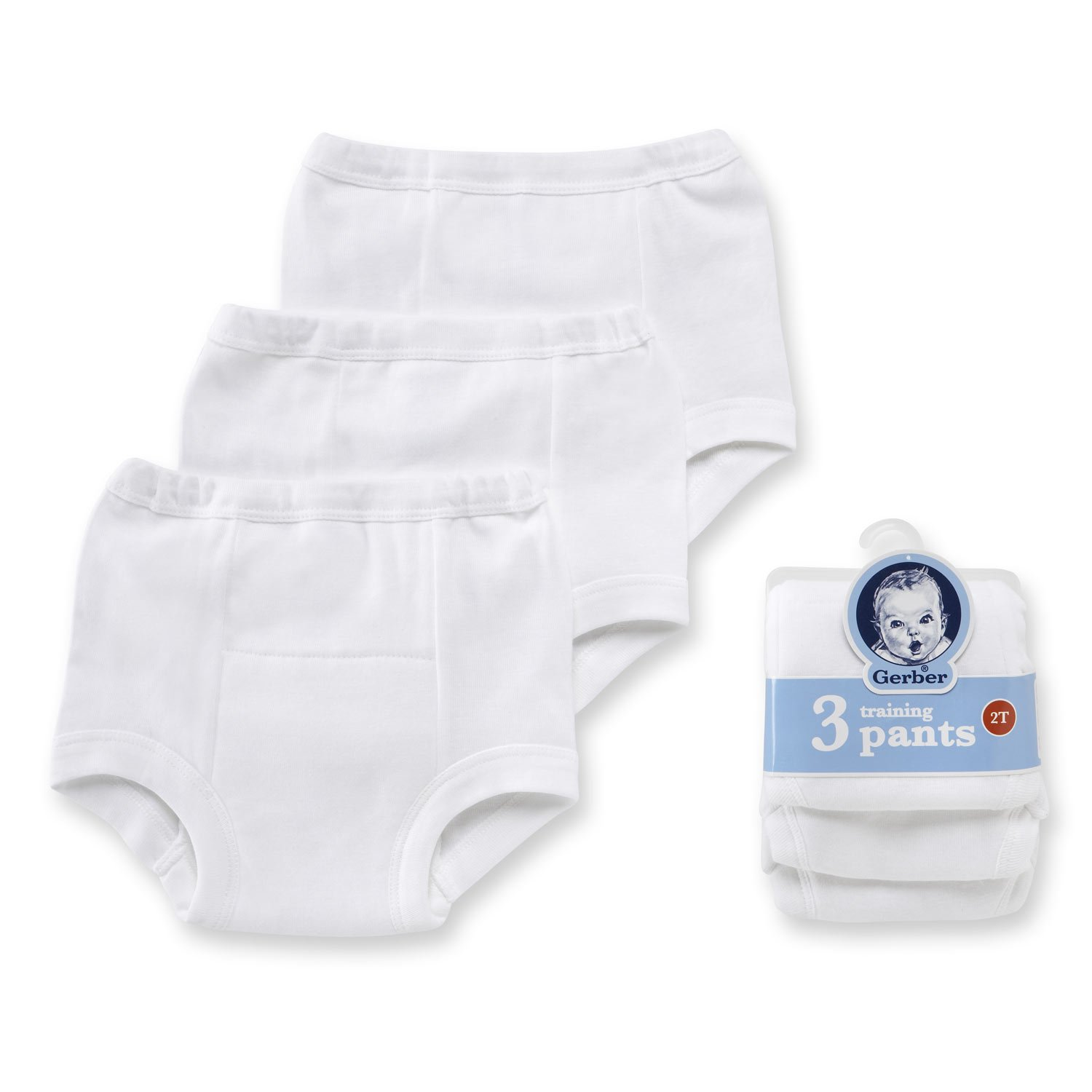 Gerber Unisex Baby 6 Pack Training Pant, White, 18 Months