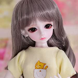 HGFDSA BJD 1/4 Doll 40Cm 15.7Inches Full Set Makeup Lovely and Delicate Birthday Doll Toy Doll Girl Child Joints Movable Doll Gift