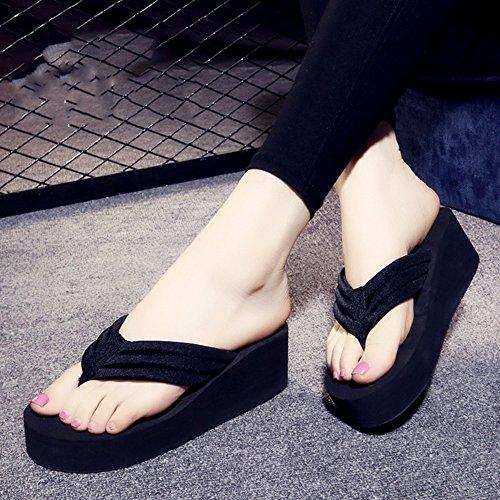 Mujeres Señoras Sandalias Flip flops Mujer de verano resbaladizo Sandalias impermeables de fondo grueso Sandalias de la personalidad de la manera con los tamaños Cómodo ( Color : 1003 , Tamaño : 36 ) 1002