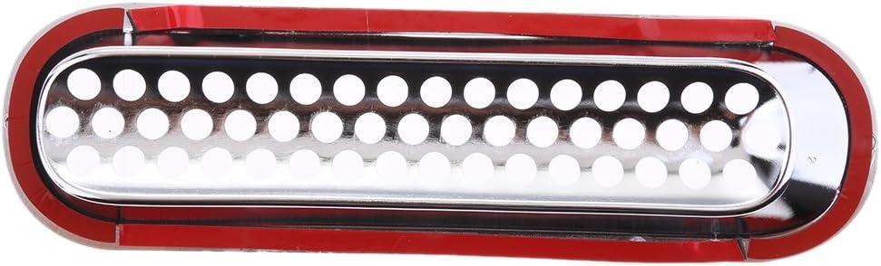 KESOTO Set di Inserti di Copertura della Griglia Anteriore con Finiture Cromate per Auto 7 Pezzi per Jeep Wrangler JK