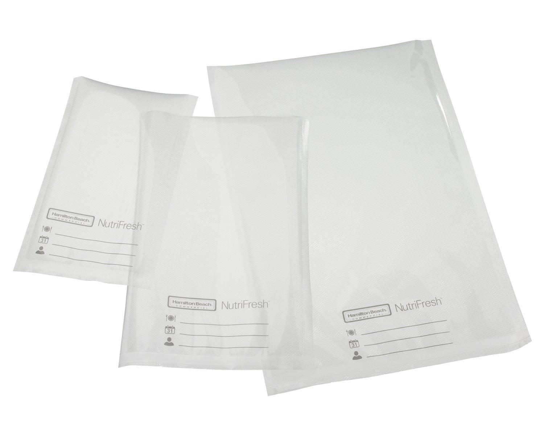 Hamilton Beach Commercial HVBX1000 NutriFresh Vacuum Sealer Bags, 6 x 10, 3Mil, Clear (Pack of 100)