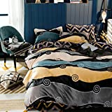 Double fleece thickening four-piece sleeve Winter bedding-D diameter180cm(71inch)