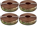 Master Mark Plastics 93340 Terrace Board Landscape Edging Coil 3 Inch by 40 Foot, Brown, 4-Pack