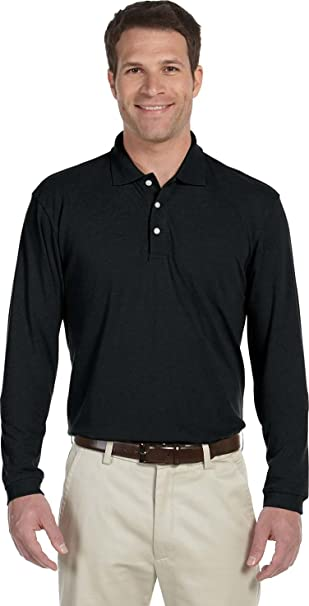 Harriton Womens Easy Blend Long-Sleeve Polo (M265L) at Amazon Women s  Clothing store  c3b644304