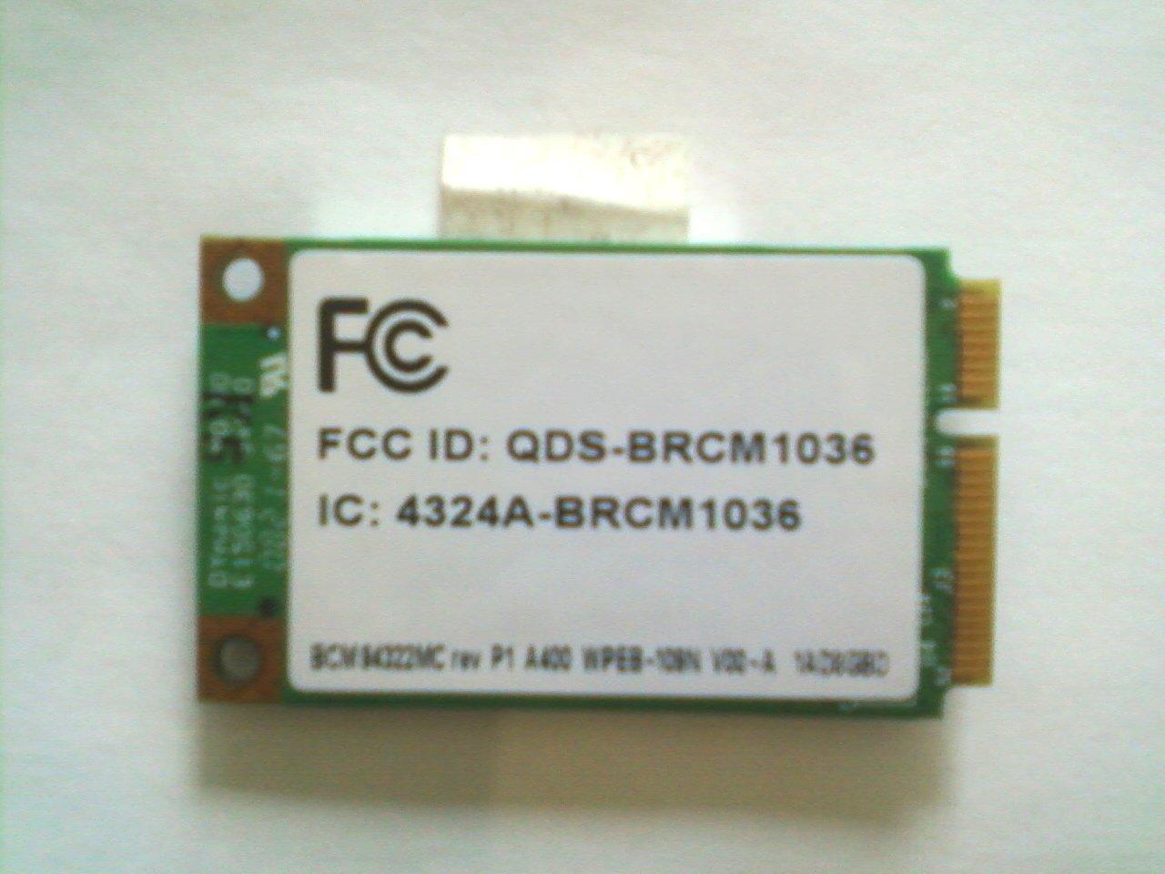 HP internal Wifi Card - 487330-001 - LAN Module (Broadcom 4322 802.11abgn