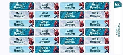 Ludilabel - Lote de 24 etiquetas termoadhesivas para ropa - Marvel ...