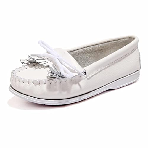 Moonwalker Mocasines de Cuero Mujer con Borlas: Amazon.es: Zapatos y complementos