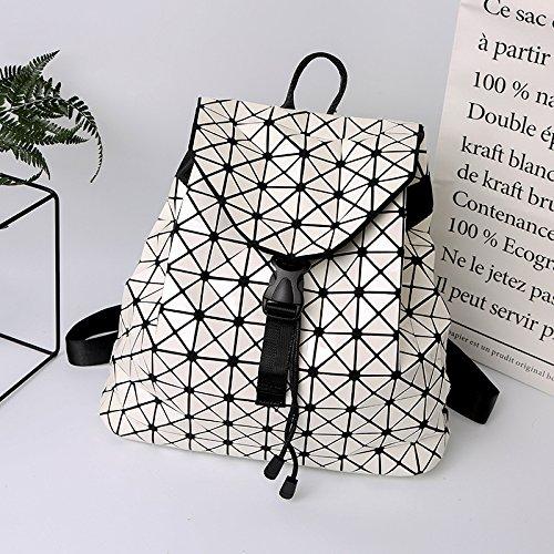 Automne Style Dos Géométriques D'étudiant À De Couverture Sac Motifs Et Blanc De Type Nouveau De Mosaïque Été Meoaeo 2017 qXatHH